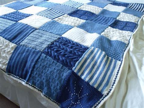 pattern knitted quilt knit it grow it cook it knitted blanket finished