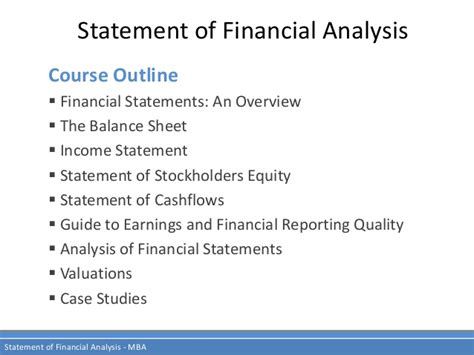 Mba 520 Financial Statement Analysis by Financial Analysis