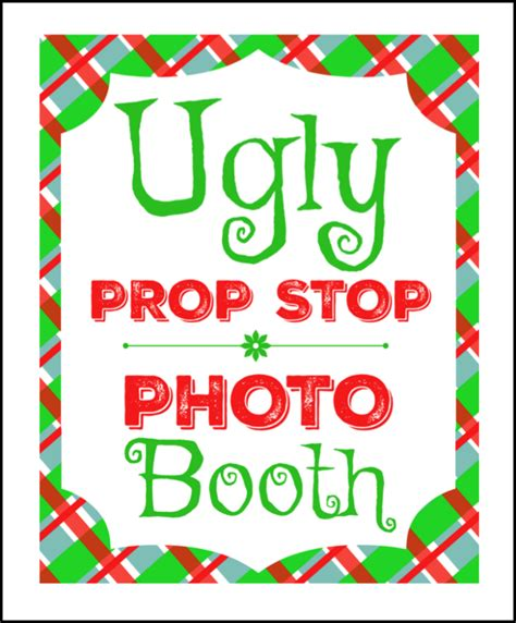 printable ugly sweater photo booth props 50 ugly christmas sweater party ideas oh my creative