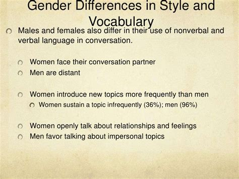Essay On Language And Gender by Gender Differences