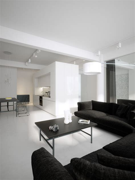 black and white interior luxury minimalist loft designs in black and white best