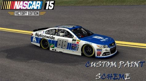 nascar 2017 dale jr paint scheme sneak peek youtube nascar 15 custom paint scheme dale jr s 2017 nationwide