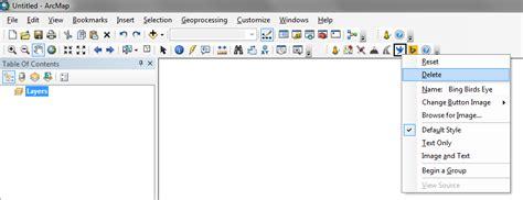 arcgis quick tutorial arcgis desktop tutorial on customizing arcmap toolbars