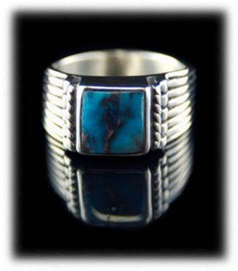 mens turquoise rings by durango silver