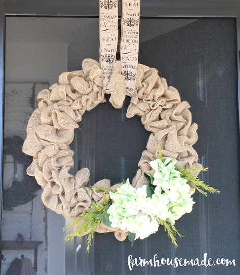 how to make a wreath with burlap how to make a burlap wreath farmhouse made