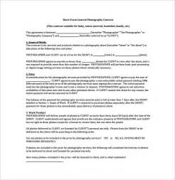 Wedding Photographer Contract Template by Photography Contract 9 Free Documents In Word Pdf