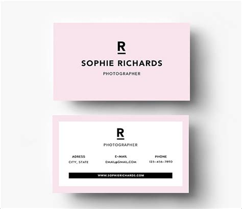 business card template letter ai 20 pink business cards free psd eps ai indesign