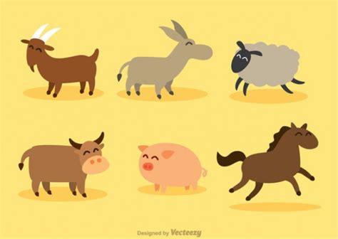 imagenes de animales felices animales felices de dibujos animados descargar vectores