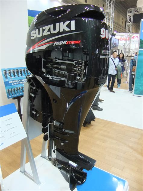 Where Are Suzuki Outboards Made File Suzuki Marine Engine Df90at Outboard Motor Jpg