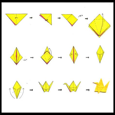Origami How To Make A Crane - origami crane by neko productions jpg 800 215 800 pixels