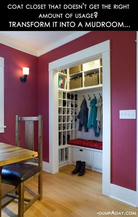 amazing easy diy home decor ideas closet to mudroom