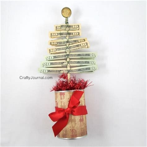how to fold paper money into christmas trees money origami