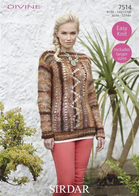 sirdar jumper knitting patterns 7514 sirdar easy knit sweater knitting pattern
