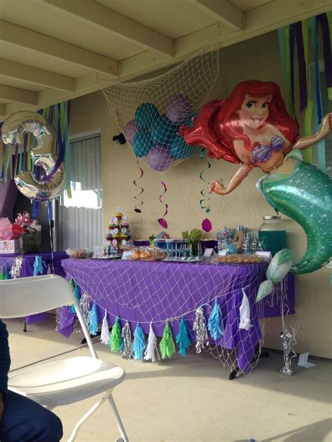 little decorations the little mermaid candy table cute toddle birthday party