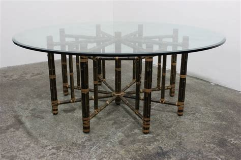 Mcguire Dining Table Reeded Bamboo Dining Table By Mcguire At 1stdibs