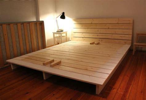 Einfaches Bett Selber Bauen Ohne Bettw 228 Sche Bauwagen How To Raise A Bed Without A Frame