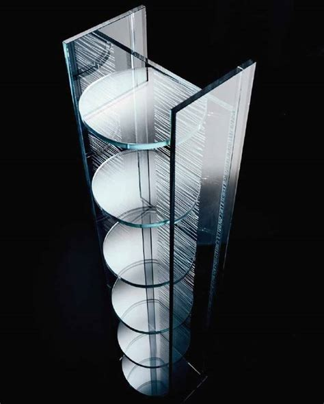 Modern Glass Cabinet by Italcomma Tratteggio Display Cabinet Bookcases