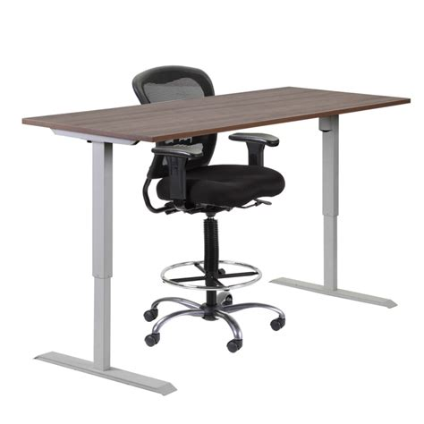 Height Adjustable Standing Height Desk Macbride Office Office Furniture Adjustable Height Desk