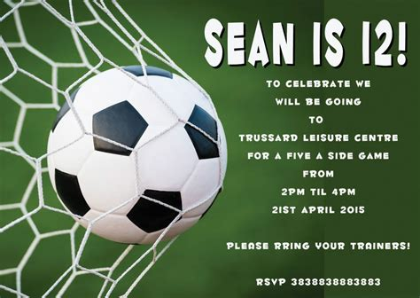 Football Invitation Template by 40th Birthday Ideas Free Football Birthday
