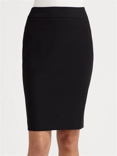 armani wool pencil skirt in black lyst