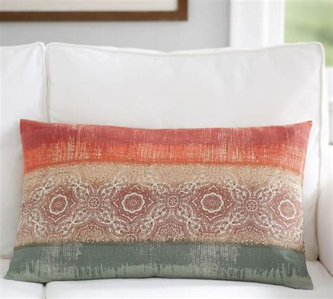 pottery barn bed pillows ombre print lumbar pillow cover pottery barn