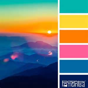 sunset colors 25 best ideas about bright color palettes on