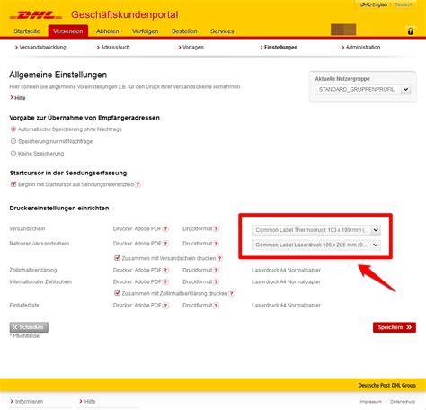 Paketschein Drucken Word by Jtl Shipping F 252 R Dhl Paket Dhl Versenden Einrichten