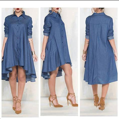 42269 Blue Denim Casual Top button sleeve denim pocket shirt
