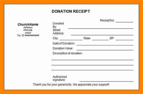 tax deductible donation form template 11 tax deductible receipt resume sections