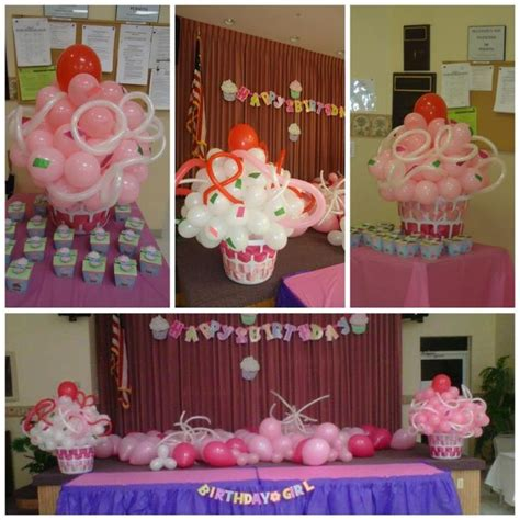 home party decoration ideas with exemplary perfect birthday party cupcake 1st birthday balloon decoration violets birthday