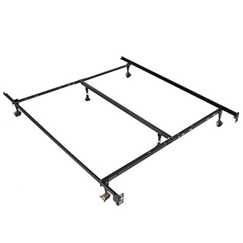 bed frame support best choice products metal bed frame adjustable queen full