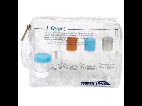 deluxe 1 quart travel zip top bag with bottles tsa