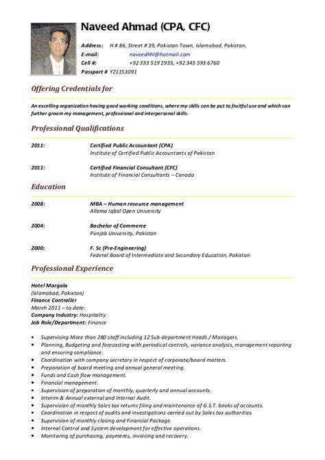 Mca Resume Sles Free Curriculum Vitae Format For Freshers 19 Images Sle Cv For Format Doc Pdf Cna