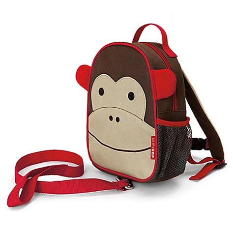 skip hop 174 zoo monkey safety harness mini backpack with rein buybuy baby
