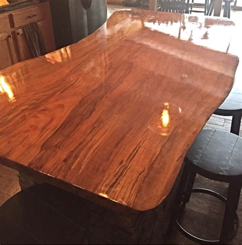 two part epoxy resin bar top beech wood kitchen island holly waight designs