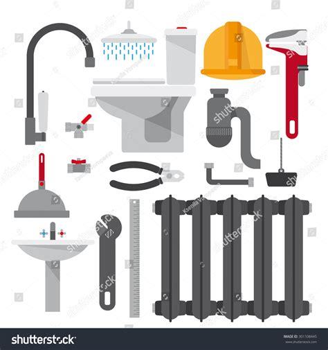 Plumbing Set by Set Plumbing Items Tools Equipment And Plumbing Elements