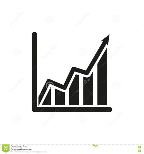 symbol of growth the growing graph icon growth and up symbol flat stock