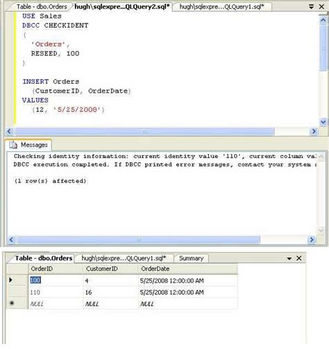 resetting primary key in sql how do i reseed a sql server identity column