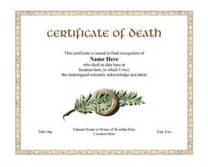 7 death certificate templates free word pdf documents