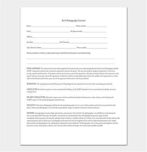 Photography Contract Template 40 Free In Word Pdf Aerial Photography Contract Template