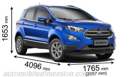 ford ecosport 2018 dimensions, boot space and interior