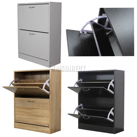 shoe storage drawer foxhunter wooden shoe storage cabinet 2 drawer footwear