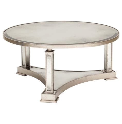 Coffee Table Silver Tully Regency Silver Antique Mirror Coffee Table Kathy Kuo Home