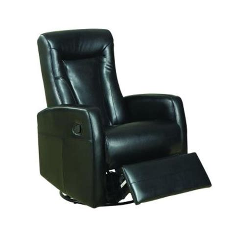 black leather rocker recliner black bonded leather swivel rocker recliner i8082bk the