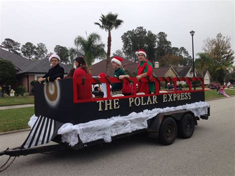 polar express float christmas parade float ideas