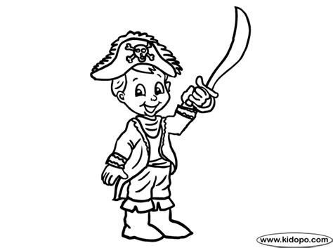 Pirate Boy Coloring Page | pirate boy coloring page