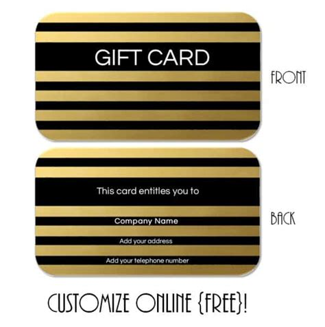 gift cards template gift card template