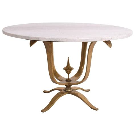 Solid Marble Dining Table Dining Table Solid Brass And Marble After Arturo Pani For Sale At 1stdibs