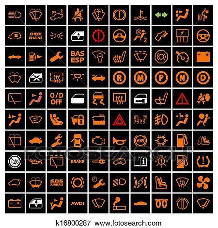 clipart bil instrumentbraeda icons  soek