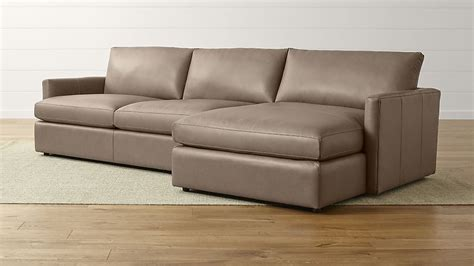 Leather Sectional Sofa 2 lounge ii right arm chaise sectional sofa crate and barrel